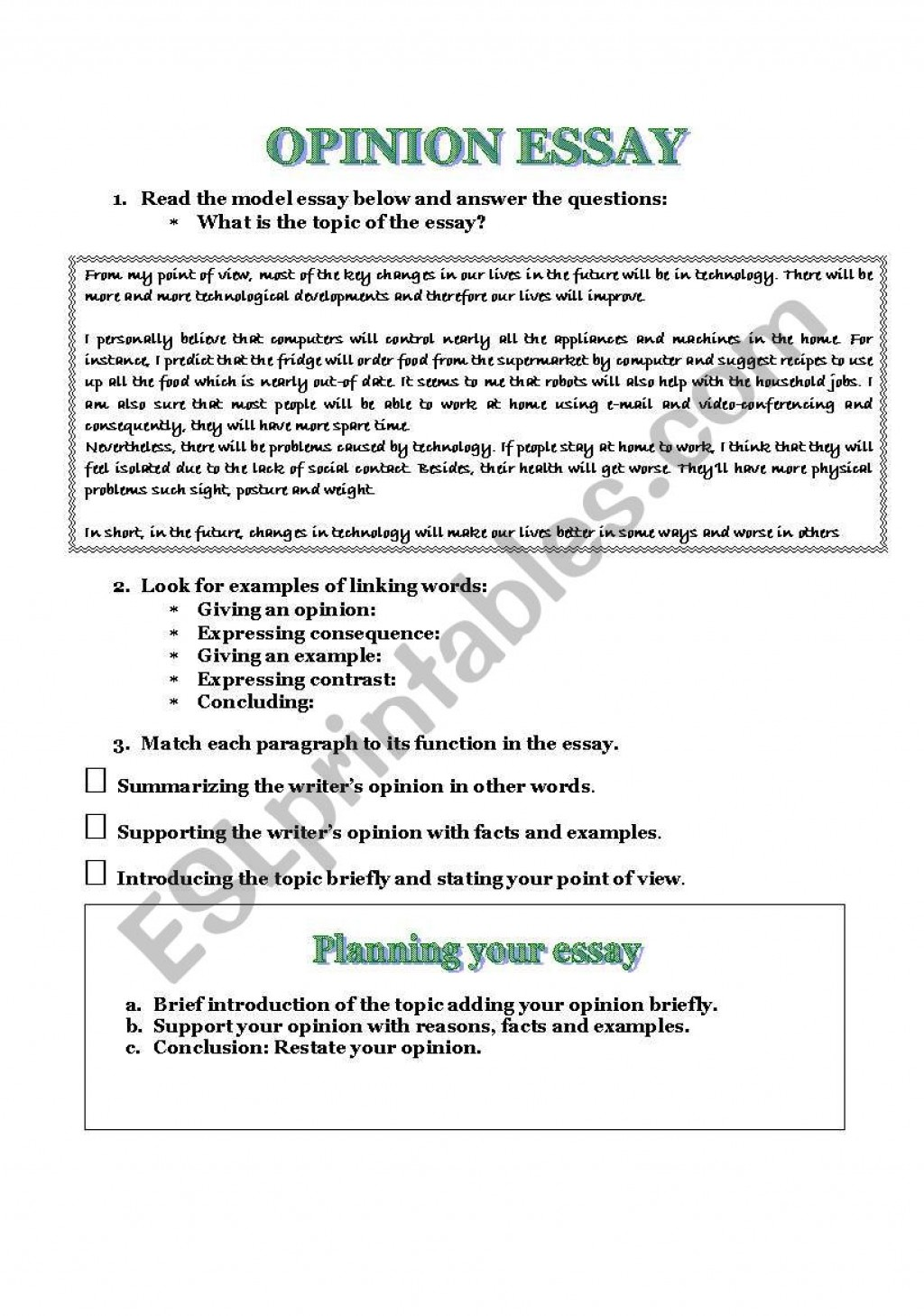 024 Opinion Essay Examples Example 210824 1 How To Write A Good Staggering Format Pdf Free Ielts Large