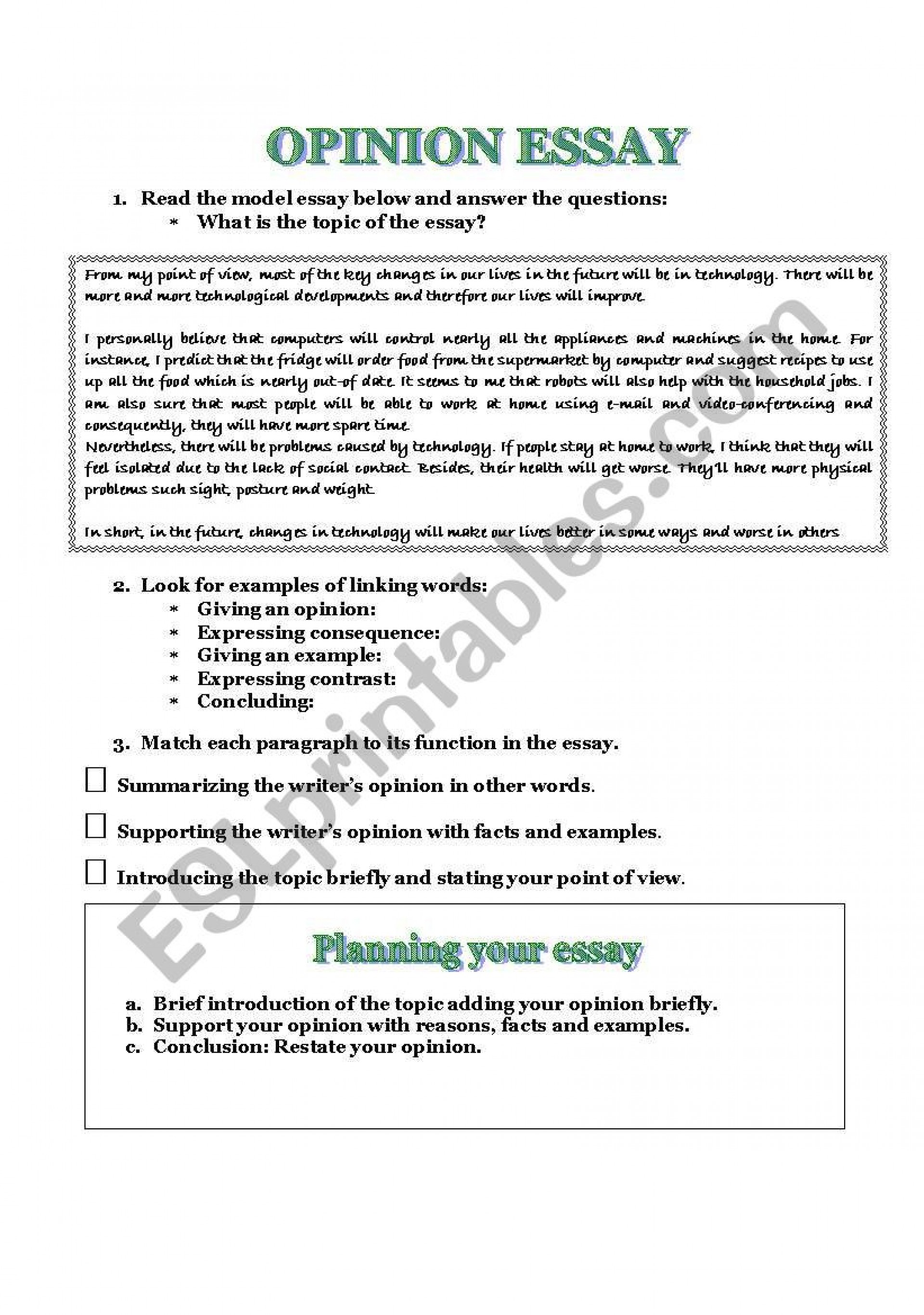 024 Opinion Essay Examples Example 210824 1 How To Write A Good Staggering Format Pdf Free Ielts 1920