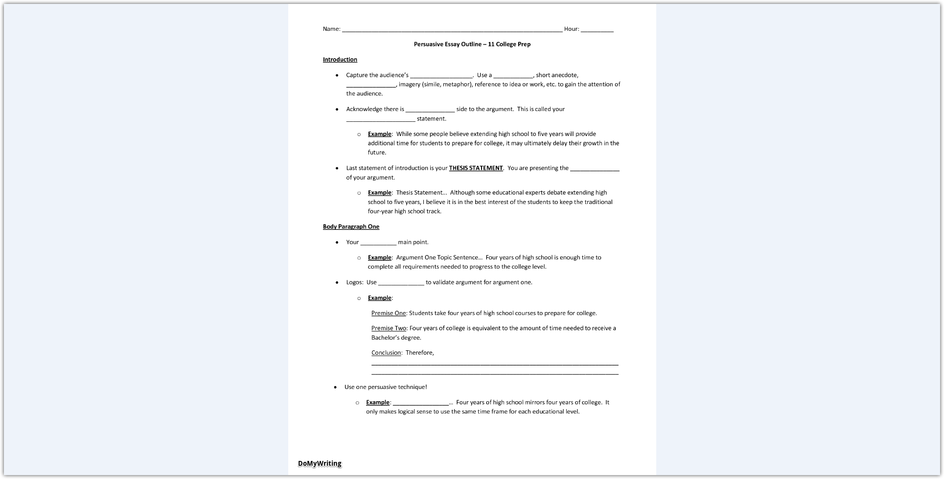 024 Persuasive Essay Outline Dreaded Speech Topics For Elementary Rubric 10th Grade Full