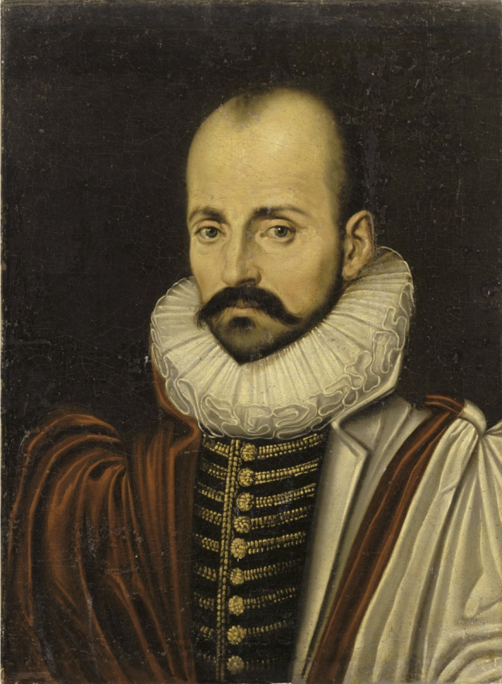 024 Portrait Of Michel De Montaigne2c Circa Unknown Montaigne Essays Summary Essay Astounding On Idleness Cannibals Large
