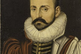 024 Portrait Of Michel De Montaigne2c Circa Unknown Montaigne Essays Summary Essay Astounding On Idleness Cannibals