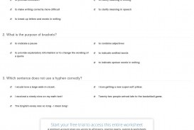 024 Quiz Worksheet Hyphens Brackets Ellipses Quotation Marks When Quoting In An Essay Where Is The Punctuation Exceptional