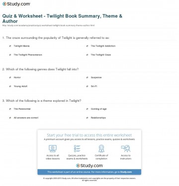 024 Quiz Worksheet Twilight Book Summary Theme Author The Hunger Games Review Essay Imposing 360