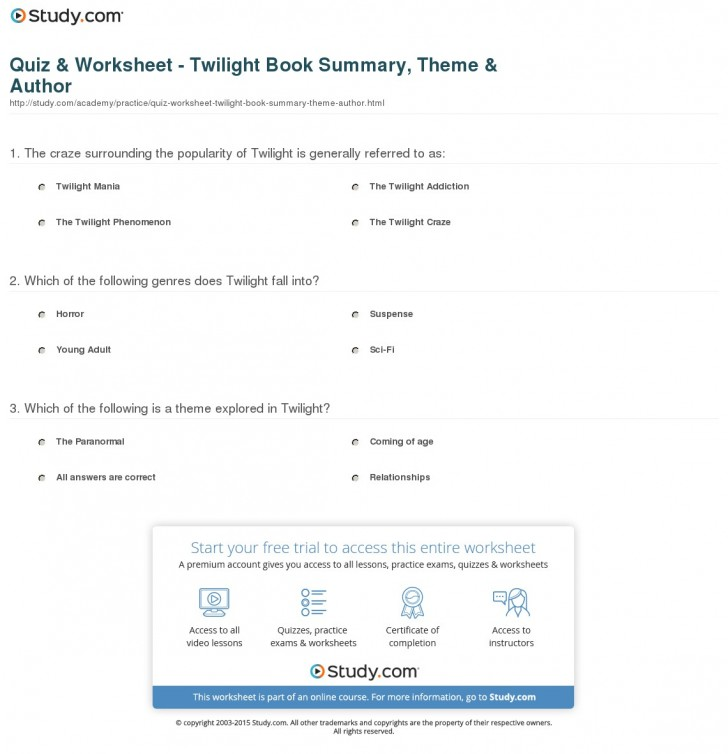 024 Quiz Worksheet Twilight Book Summary Theme Author The Hunger Games Review Essay Imposing 728