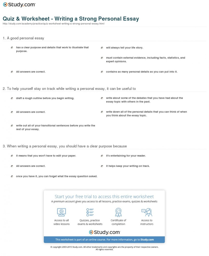 024 Quiz Worksheet Writing Strong Personal Essay What Is The Purpose Of An Wonderful A Persuasive Brainly Summarizing Main Argumentative