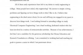 024 Short Essay Scholarships Example Joshua Cate Amazing College Easy