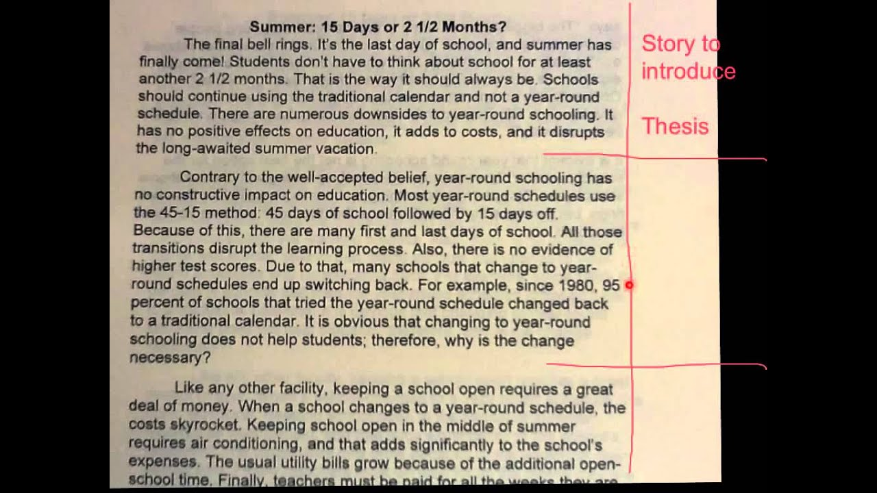 Summer holiday essay