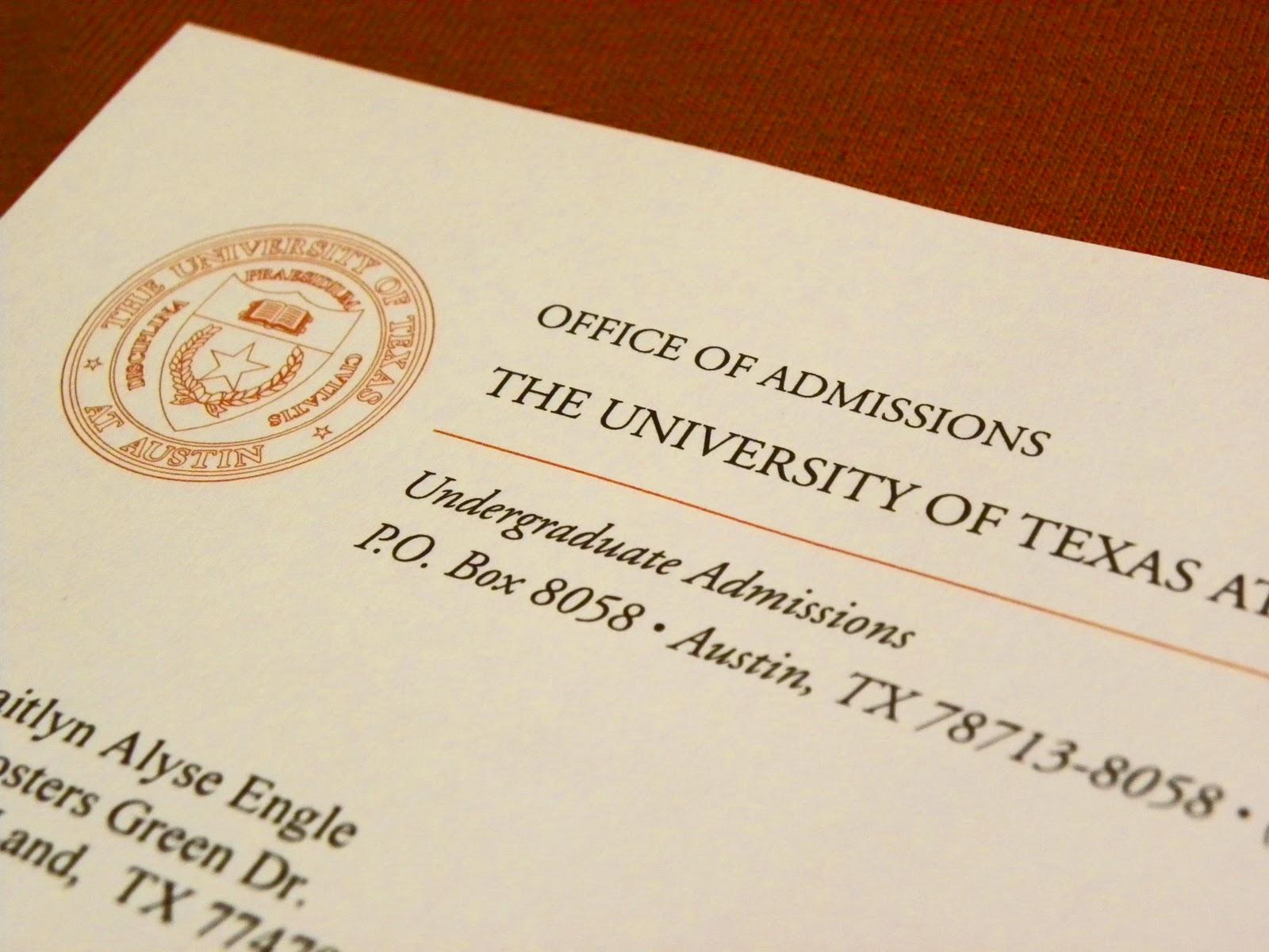 University of texas essays