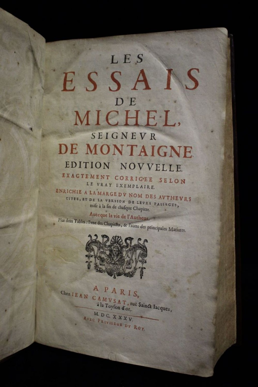 025 Essay Example H Montaigne Michel Les Essais Jpg Frightening De Essays On Experience Summary Quotes Large