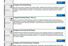 025 Free Compare And Contrast Essays Singular Essay Examples Comparison Pdf