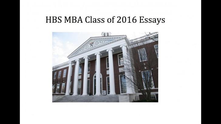 Harvard mba essays