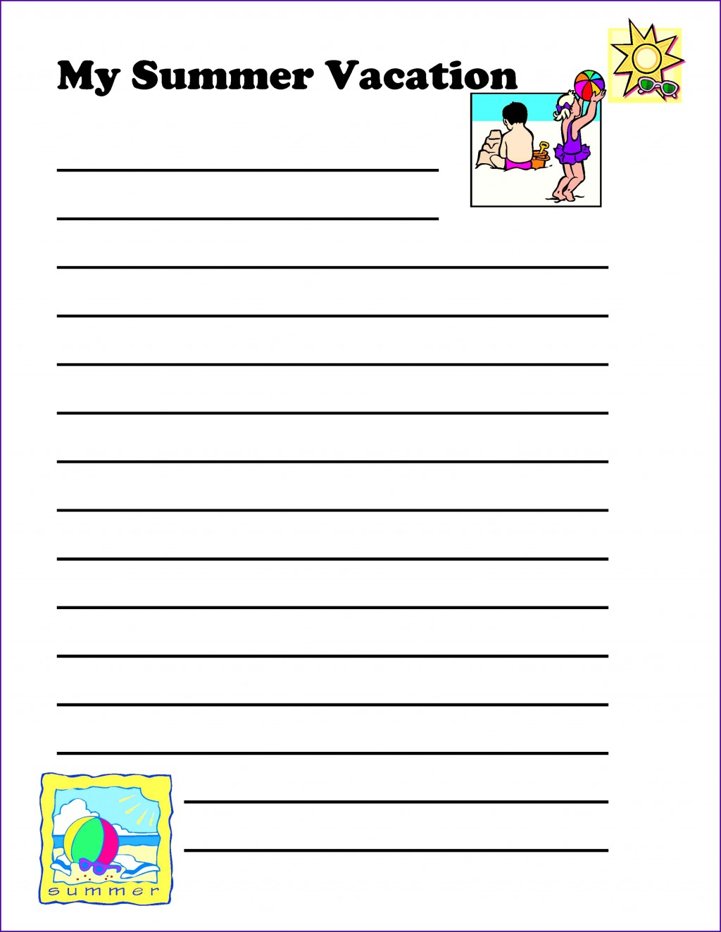 025 Summer Vacation Essay Holiday Planner Template For Admission Writing Plan Euyozr New Frightening Class 6 In Urdu On Marathi Large