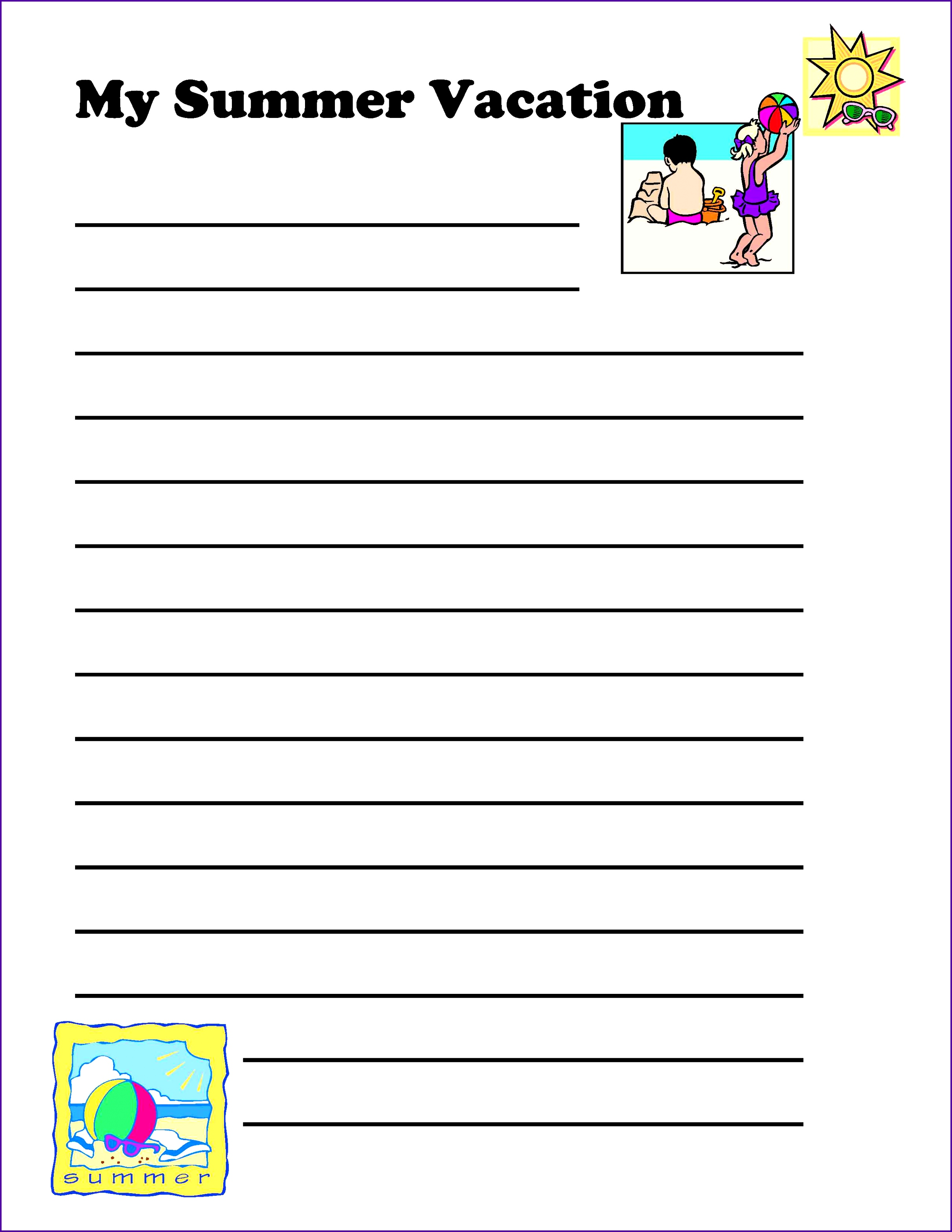 025 Summer Vacation Essay Holiday Planner Template For Admission Writing Plan Euyozr New Frightening Class 6 In Urdu On Marathi Full