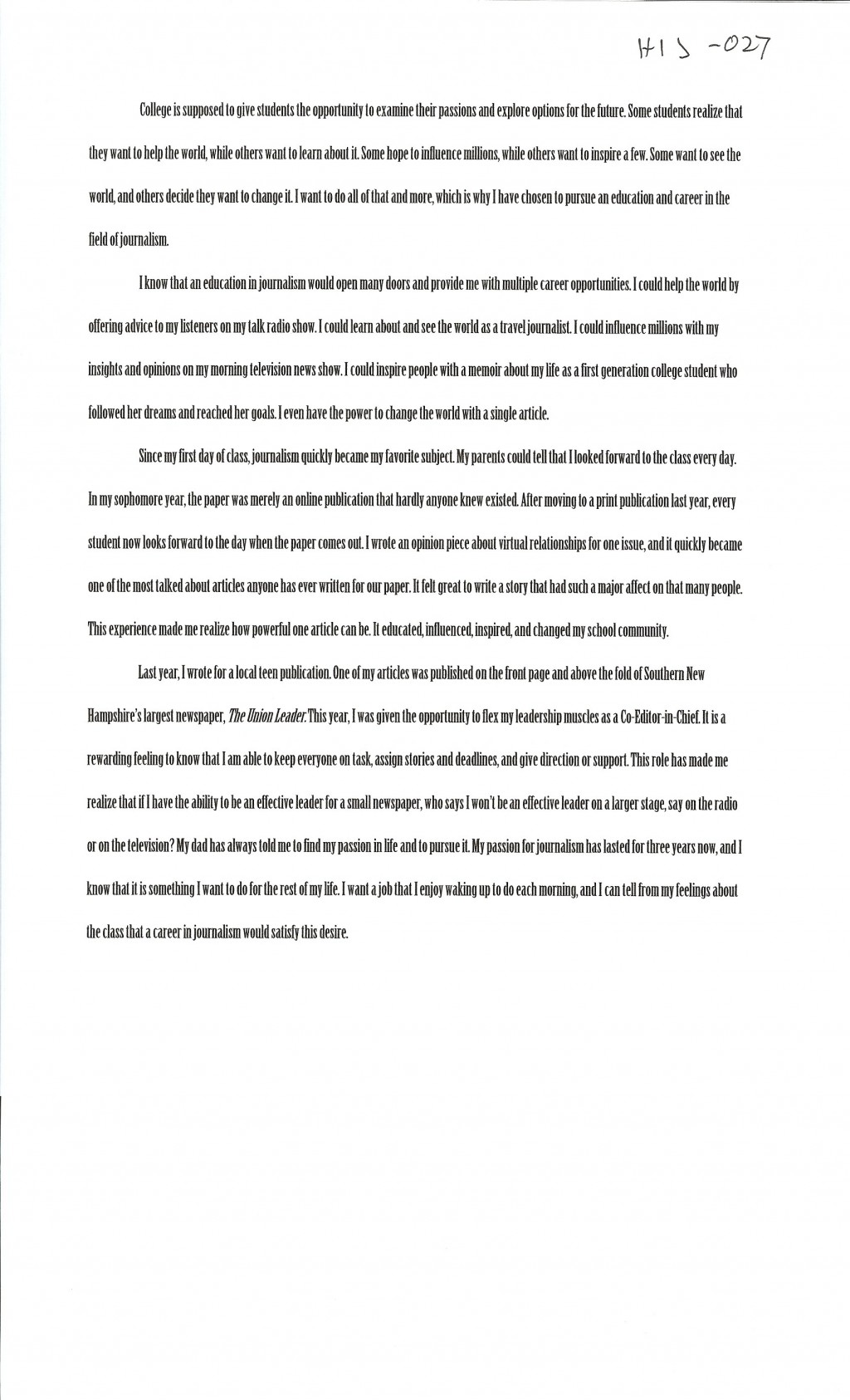 026 Alexa Serrecchia Essay Example Scholarships With Singular Essays Without Writing For High School Juniors Class Of 2020 No 2019 Large