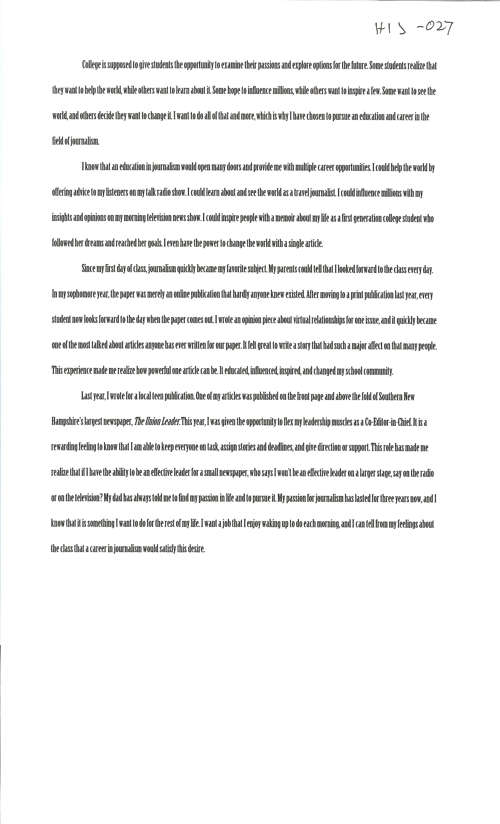 026 Alexa Serrecchia Essay Example Scholarships With Singular Essays Without Writing For High School Juniors Class Of 2020 No 2019 Full