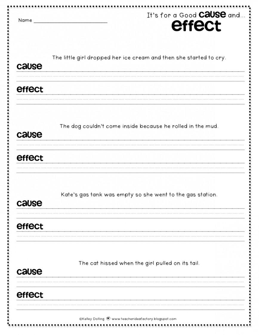 026 Essay Example Cause And Effect Examples Amazing On Stress 4th Grade 868