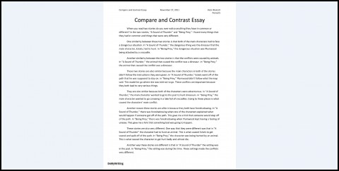 026 Essay Example Comparison And Contrast Outline Compare Impressive Format Middle School Worksheet Pdf Examples 480