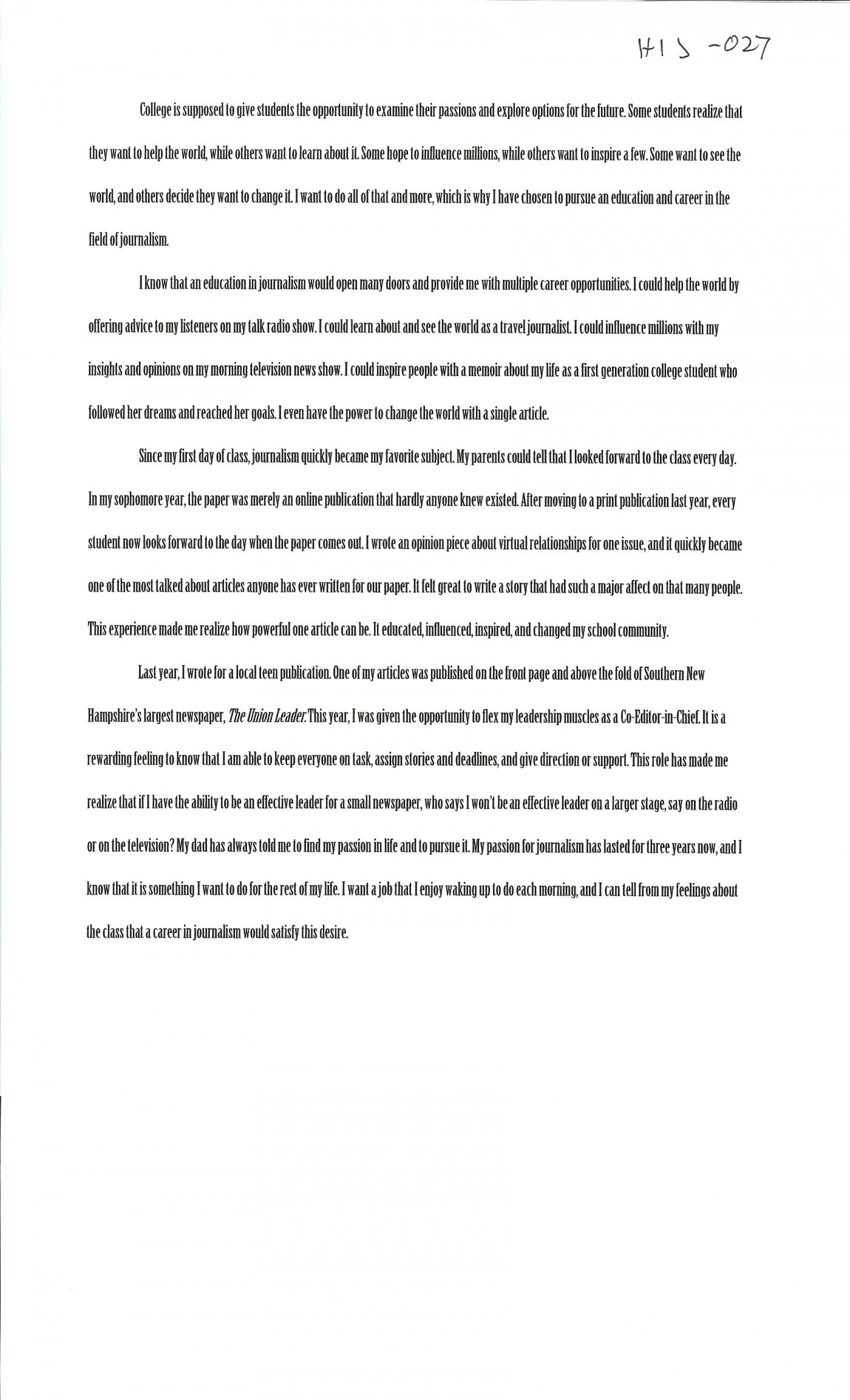 026 Essay Example First Day College Magnificent At Quotations My Pdf 1400