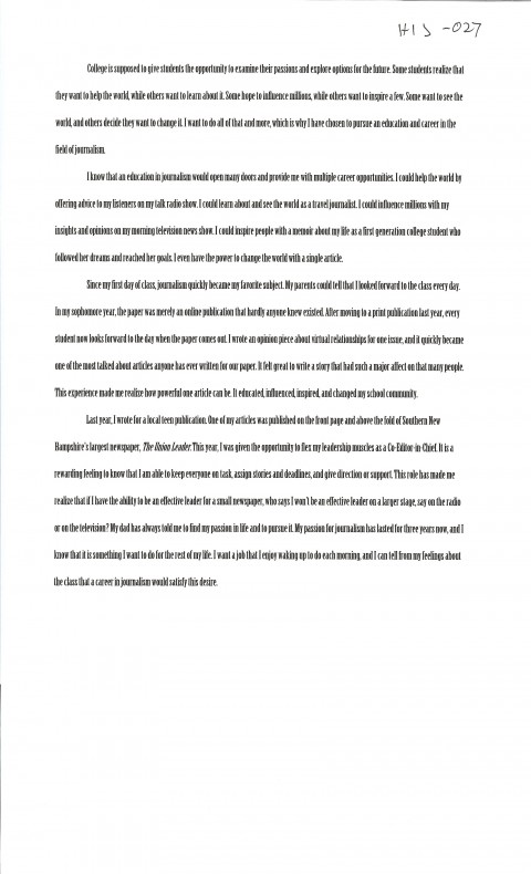 026 Essay Example First Day College Magnificent At Quotations My Pdf 480