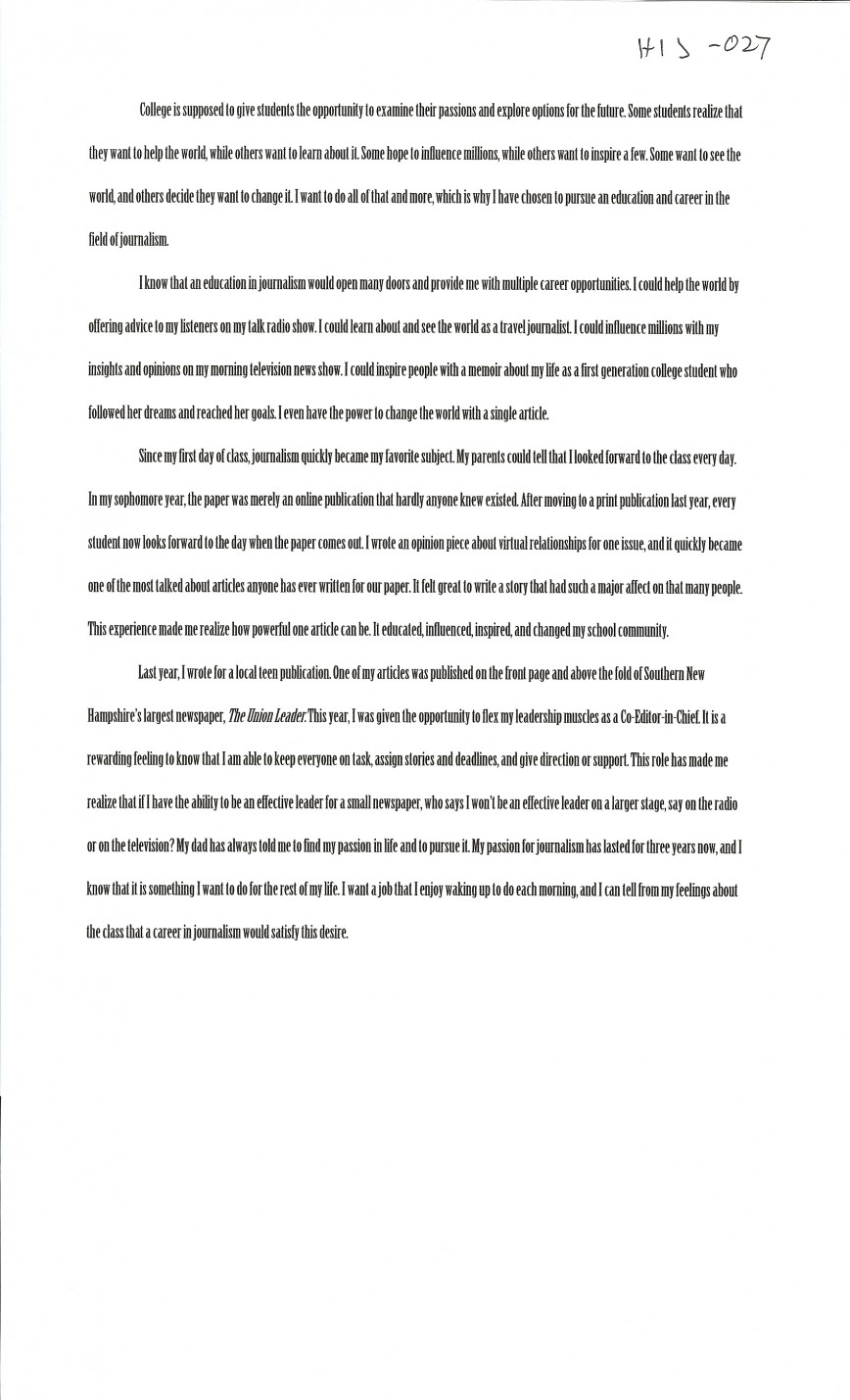 026 Essay Example First Day College Magnificent At Quotations My Pdf 868