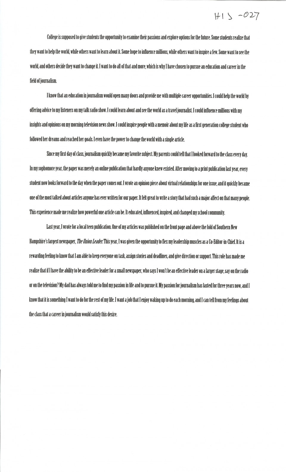 026 Essay Example First Day College Magnificent At Quotations My Pdf 960