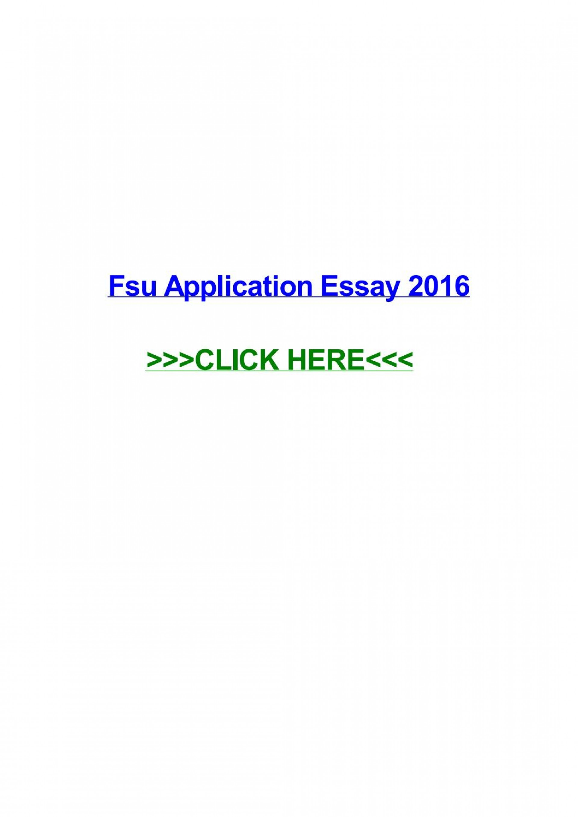 026 Essay Example Fsu Application Page 1 Remarkable Sample 1920