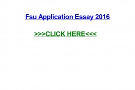 026 Essay Example Fsu Application Page 1 Remarkable Sample