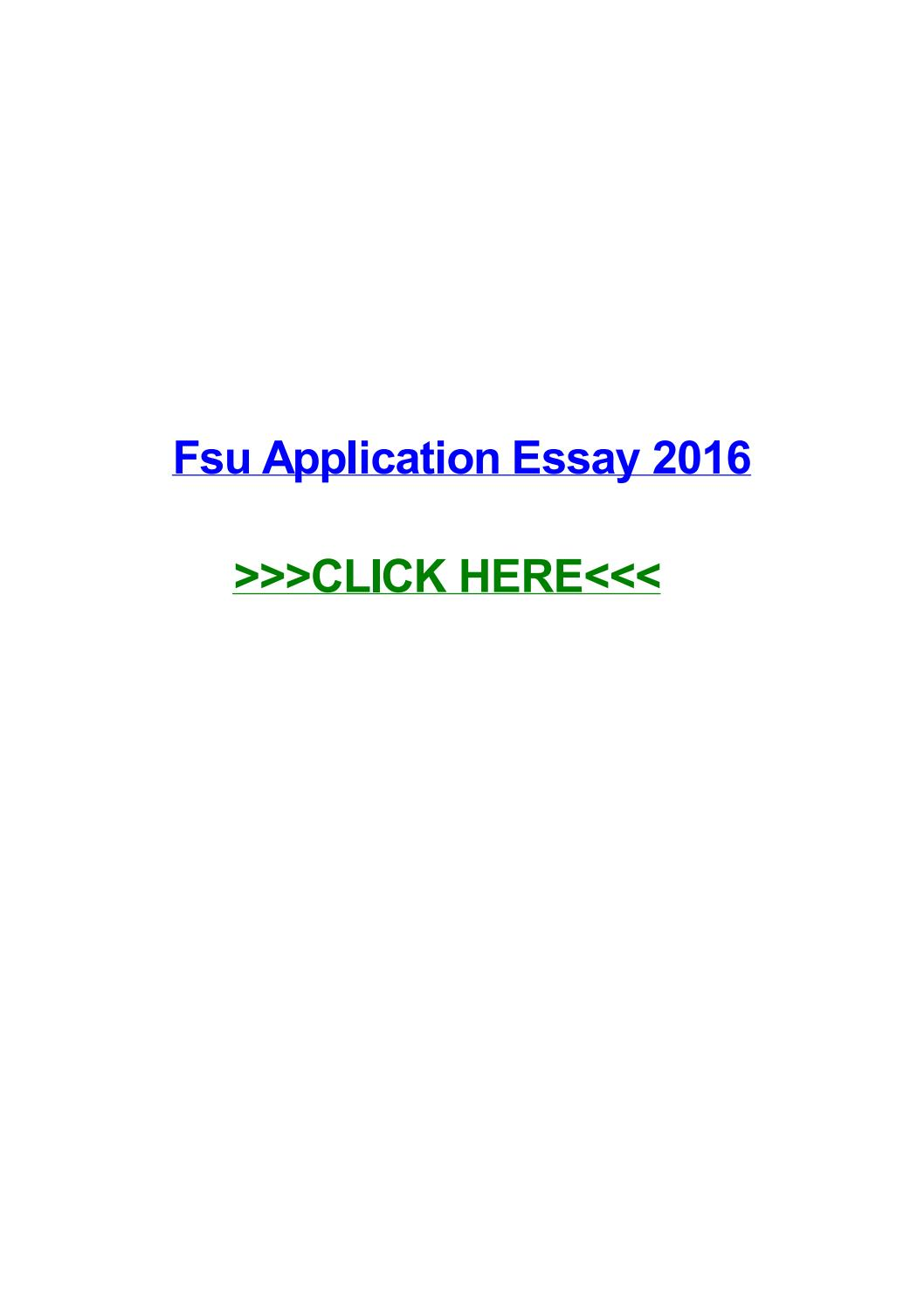 026 Essay Example Fsu Application Page 1 Remarkable Admission Examples Full