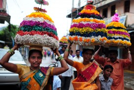 026 Essay Example On Bathukamma In Telugu Telangana Flower Festival Dreaded Short Language 320