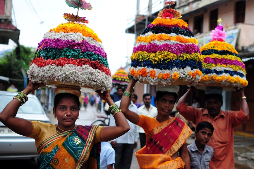 026 Essay Example On Bathukamma In Telugu Telangana Flower Festival Dreaded Short Language 868