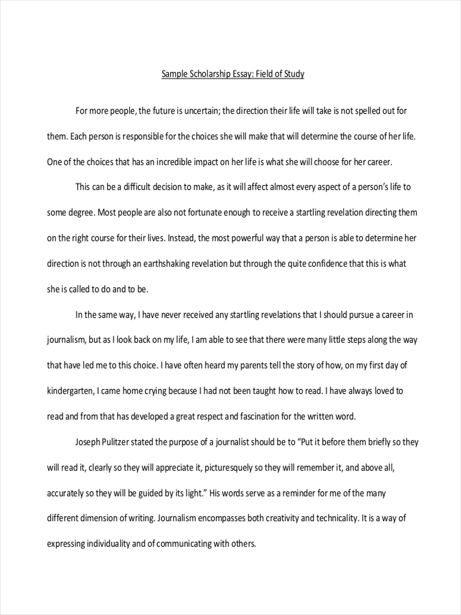 026 Essay Example Scholarship About Person Who Influenced Your Formidable A Life Has Someone Full