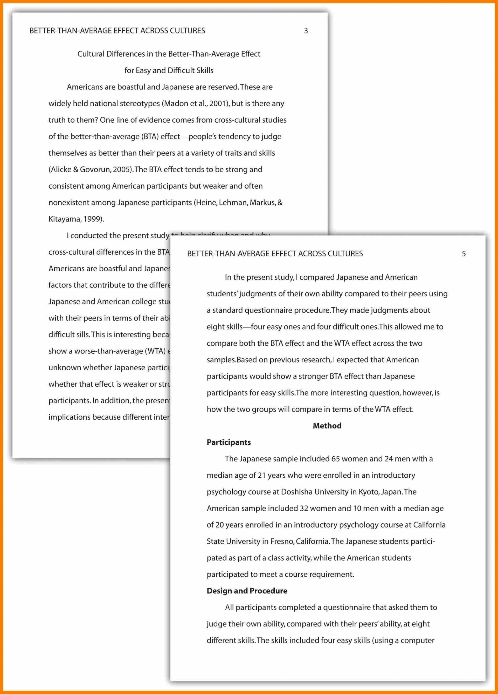 026 Essay Format Example Research Paper Apa Of Reflective In Style Ideas Collection Apamethods How To Write Unique Examples What Frightening For Middle School 2017 Writing College 1920