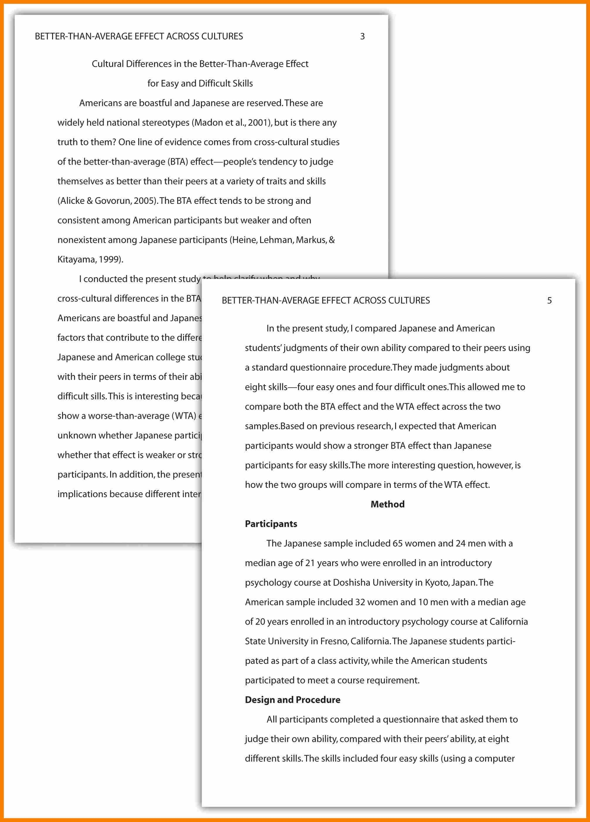 026 Essay Format Example Research Paper Apa Of Reflective In Style Ideas Collection Apamethods How To Write Unique Examples What Frightening For Middle School 2017 Writing College Full