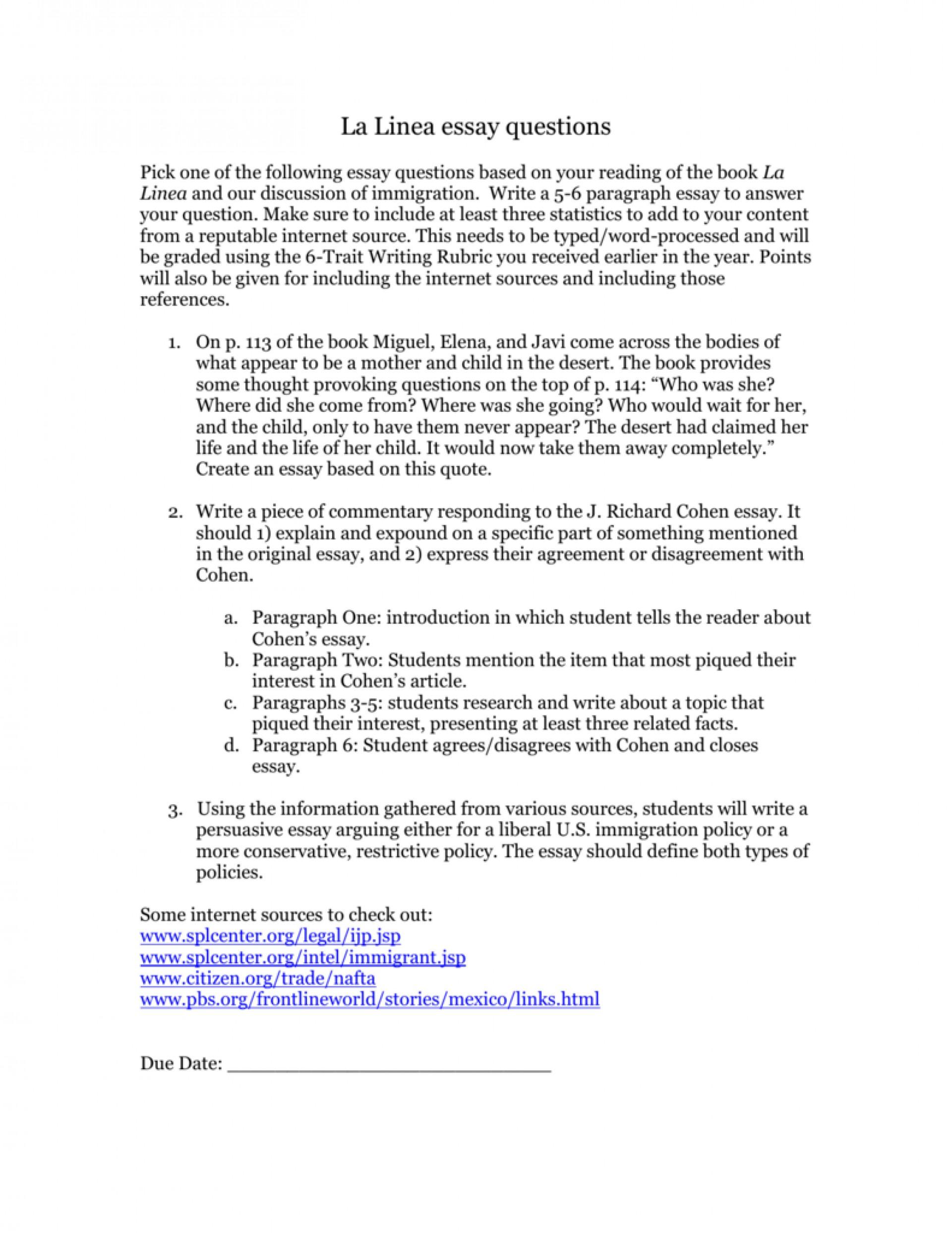 Model research essay