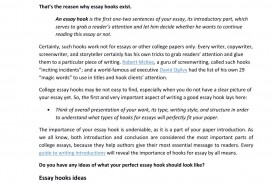 026 Page 1 Good Essay Hooks Rare Quotes For Narrative About Love