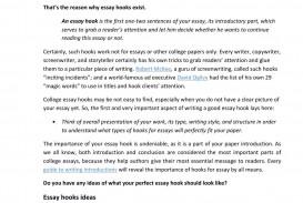 026 Page 1 Good Essay Hooks Rare Generator Best Ever College