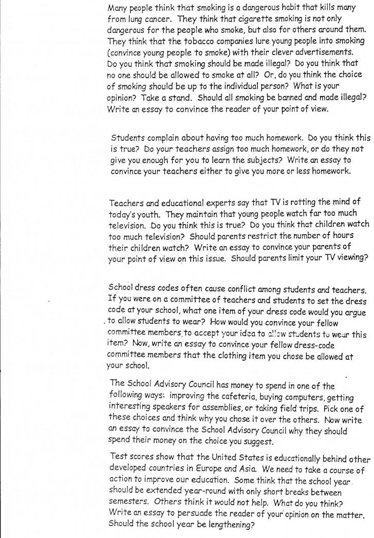 Argumentative essay topics on education