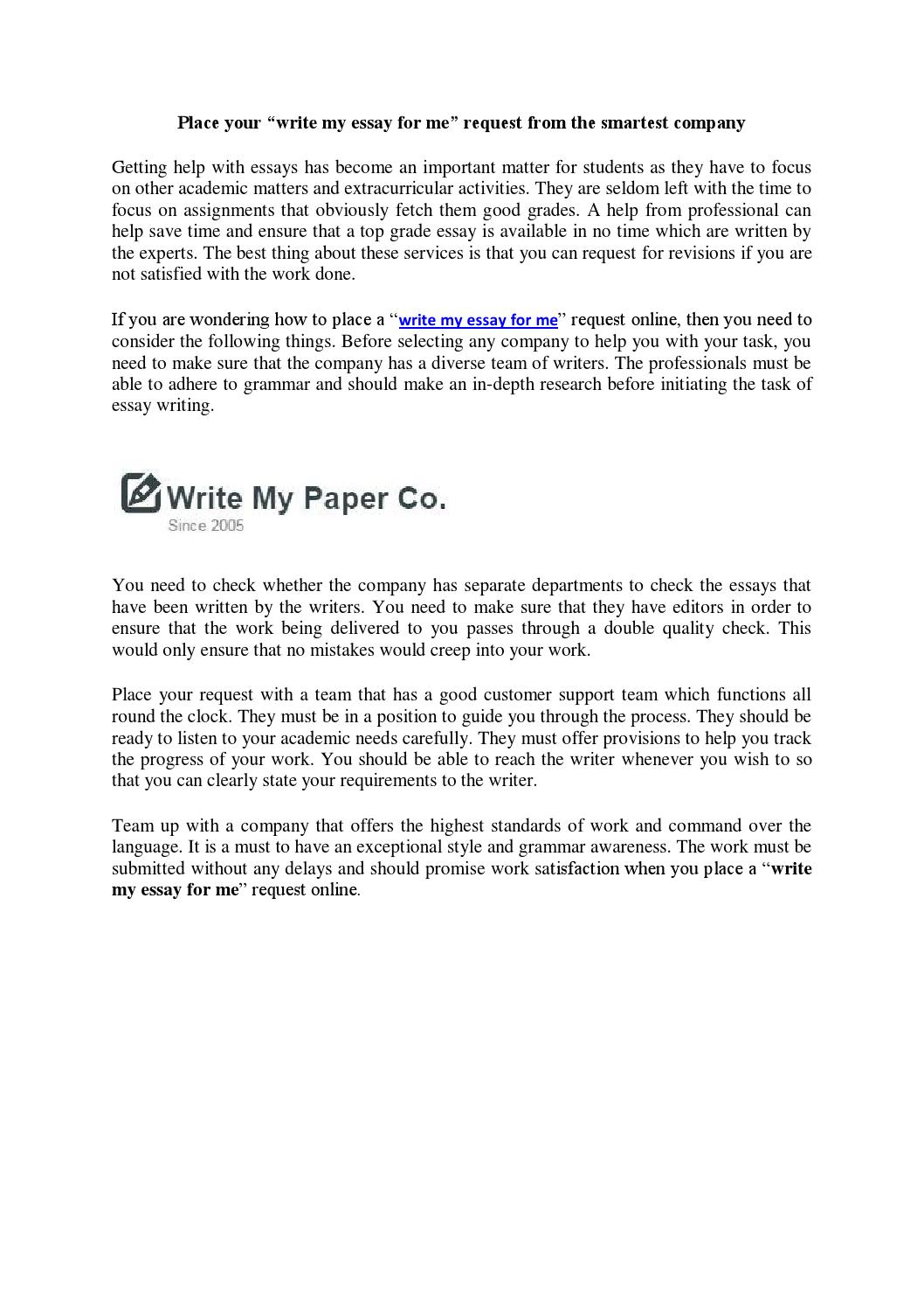 027 Do My Essay For Me Example Page 1 Impressive Write Please Free Online Custom Cheap Full
