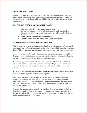 027 Educational And Career Goals Essay Example Goal Examples Unique Sample On Awesome Plans For Business Future 360