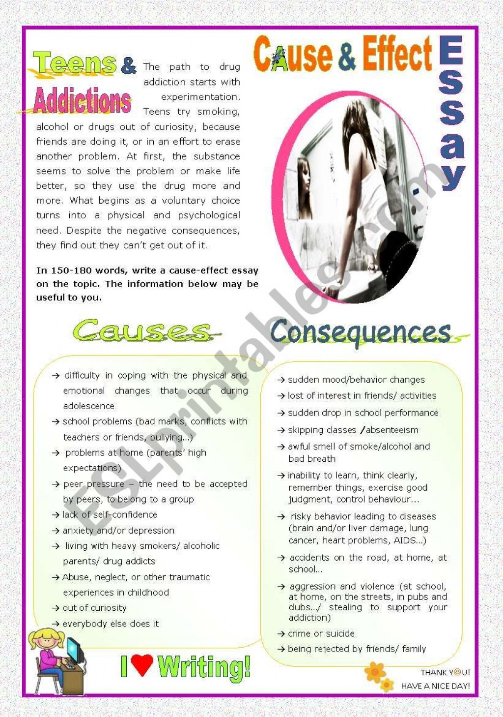 027 Essay Example 409720 1 Cause Teens And Addictions Alcoholism Fearsome Effect Large