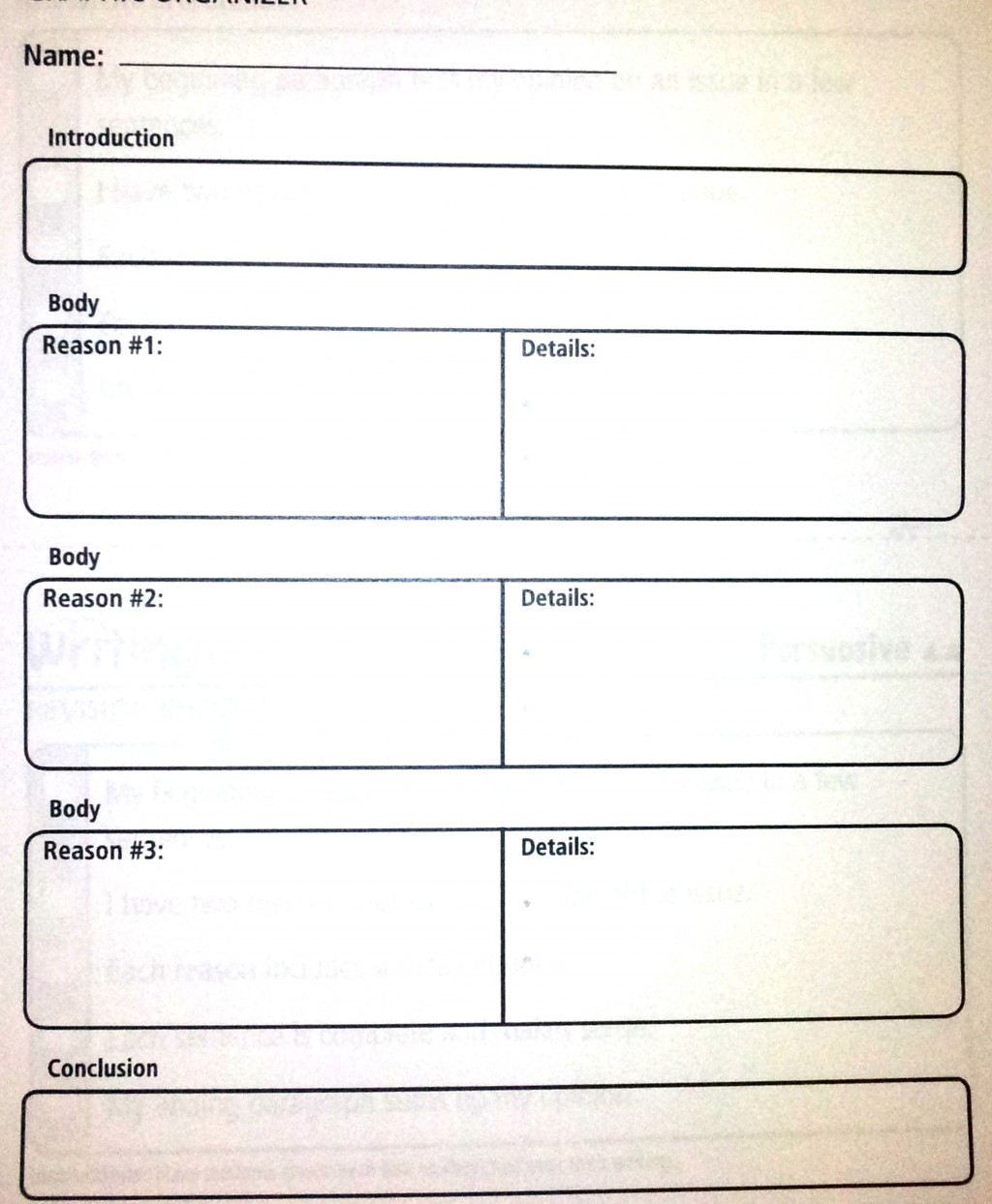 027 Essay Example Paragraph Outline Persuasive Graphic Organizer Complex Amazing 5 5th Grade High School Free Template Large