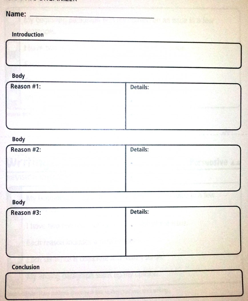 027 Essay Example Paragraph Outline Persuasive Graphic Organizer Complex Amazing 5 5th Grade High School Free Template 868