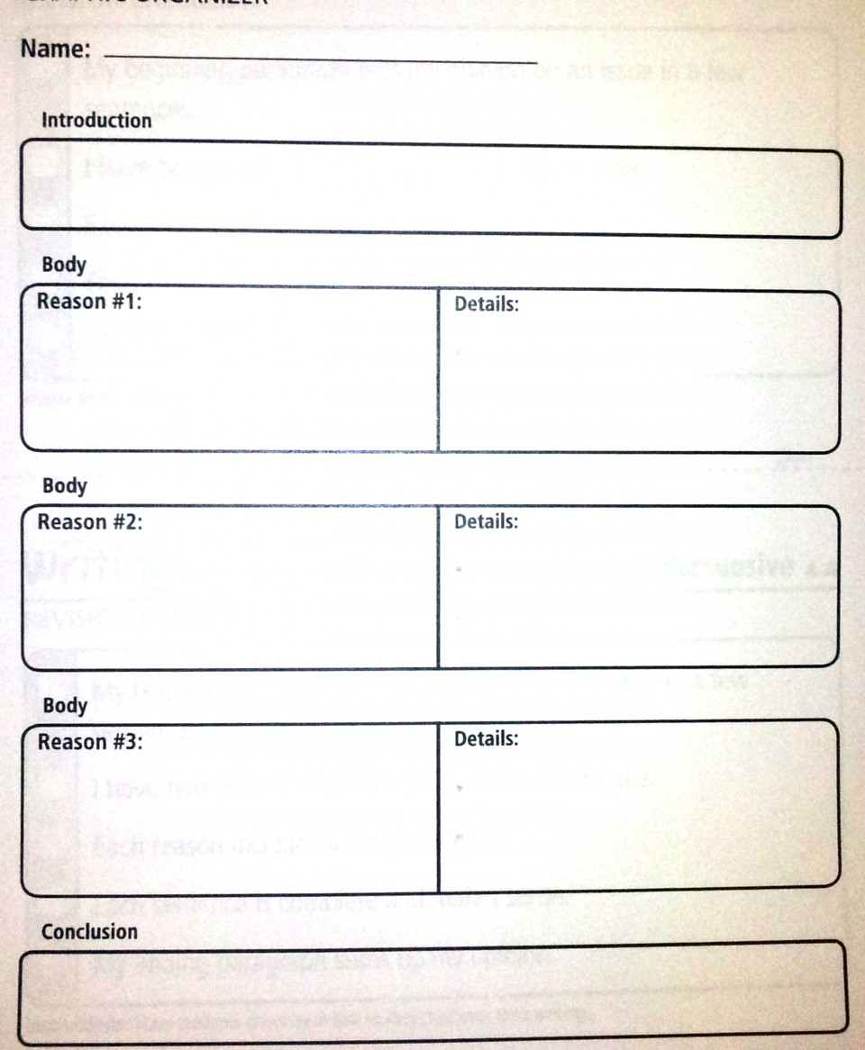 027 Essay Example Paragraph Outline Persuasive Graphic Organizer Complex Amazing 5 5th Grade High School Free Template 960