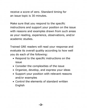 Issue Solution Essay Subjects with Test Documents