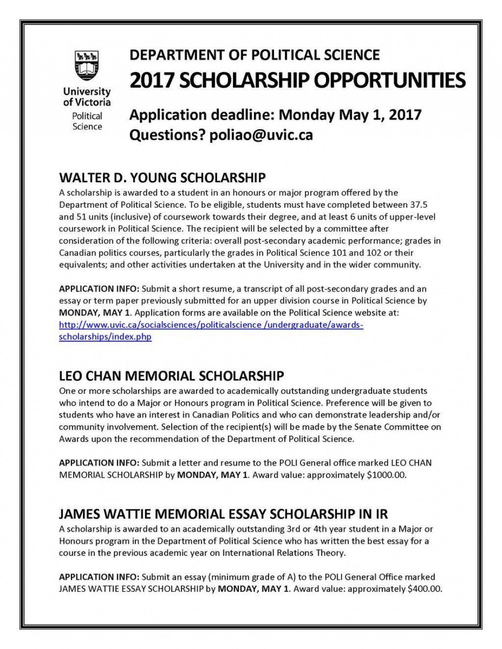 027 Essay Scholarships C943axuuiaasrbu Wonderful 2017 No College Canada Large