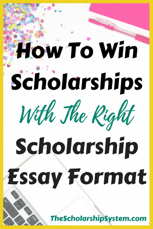027 Format Scholarship Essay Sensational Sample College Essays For Writing Large