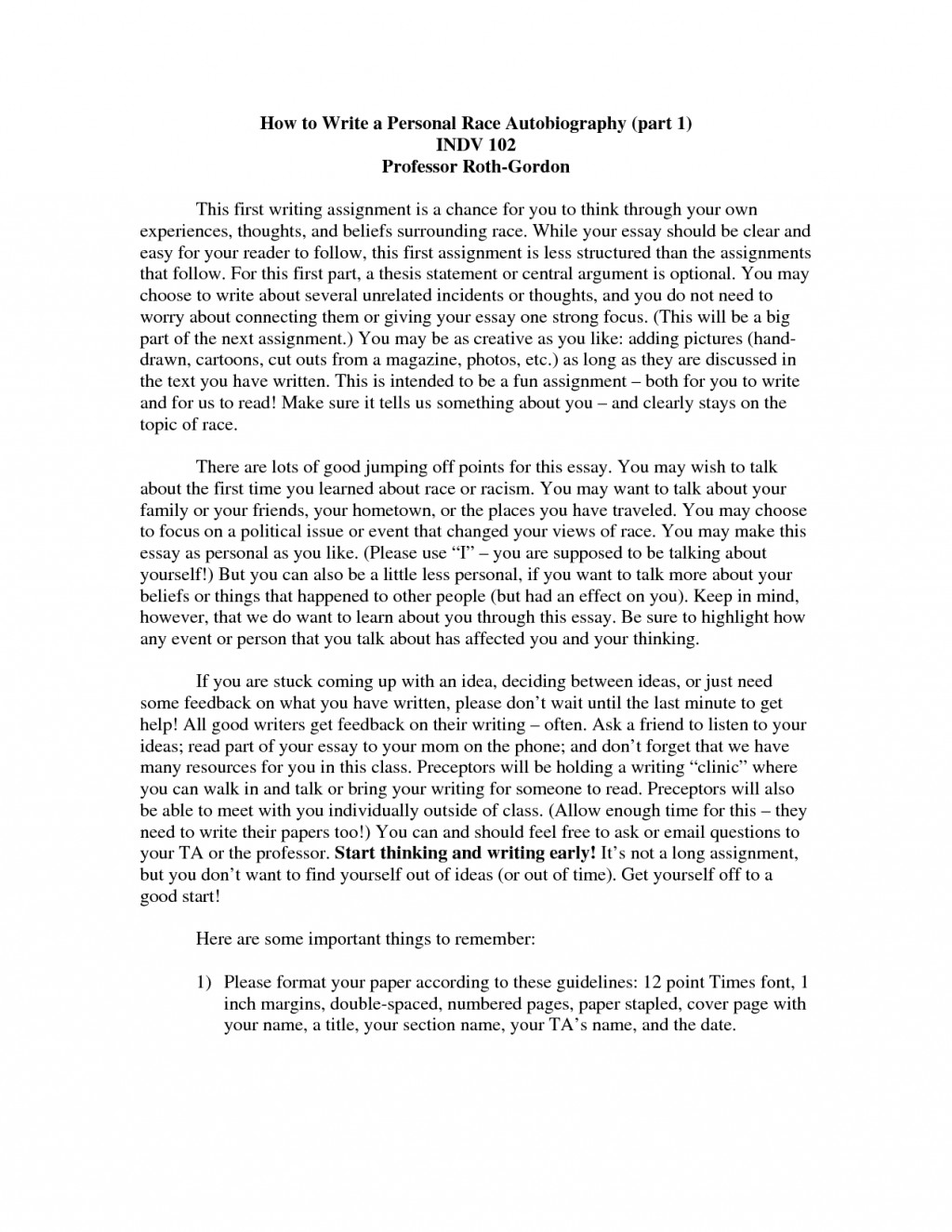 027 How To Write An Autobiography Essay 88329 Unusual Examples Autobiographical Incident Format Samples Large