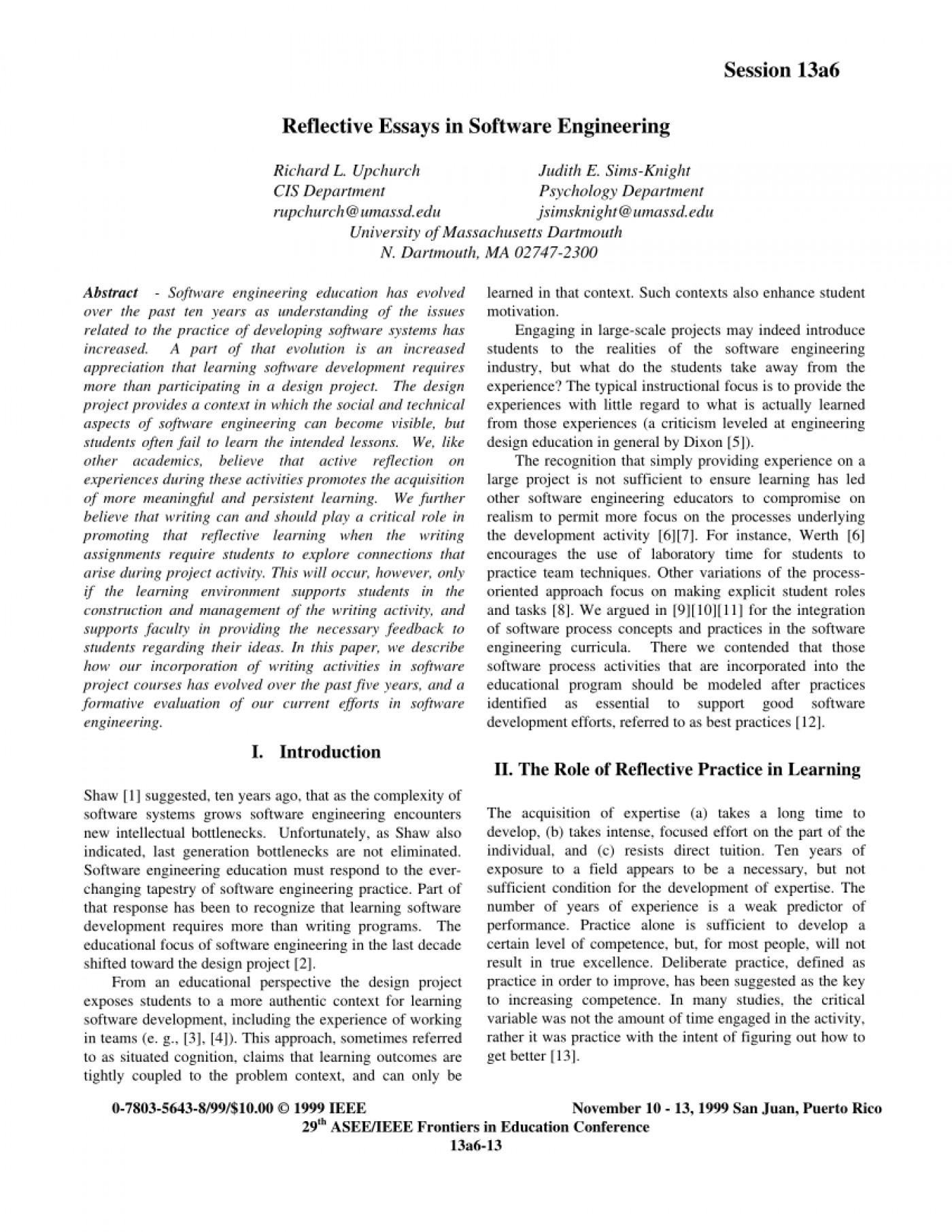 Reflective nursing essay