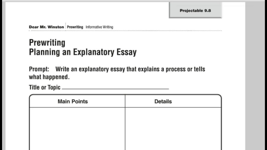 027 Maxresdefault Essay Example How To Write An Singular Explanatory Expository Middle School Introduction Large