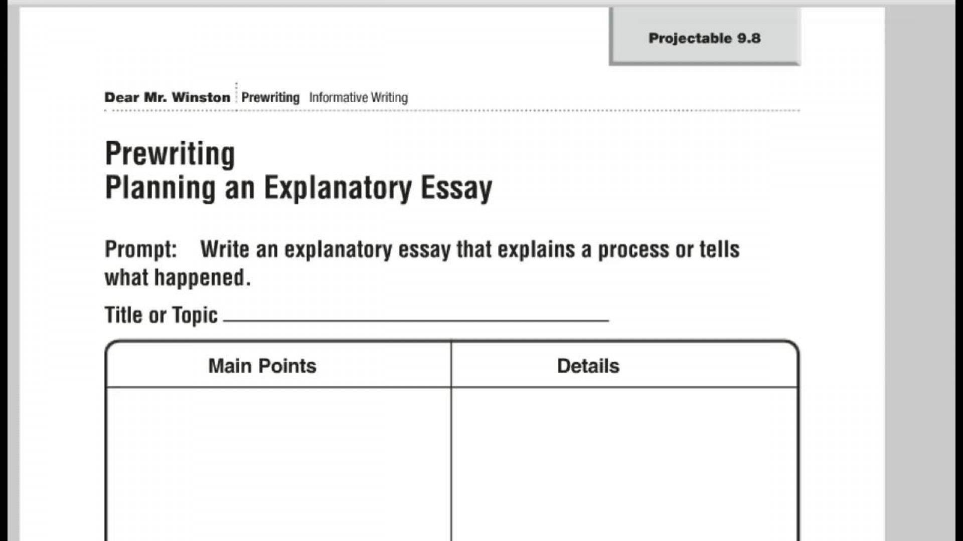 027 Maxresdefault Essay Example How To Write An Singular Explanatory Expository Middle School Introduction 1920